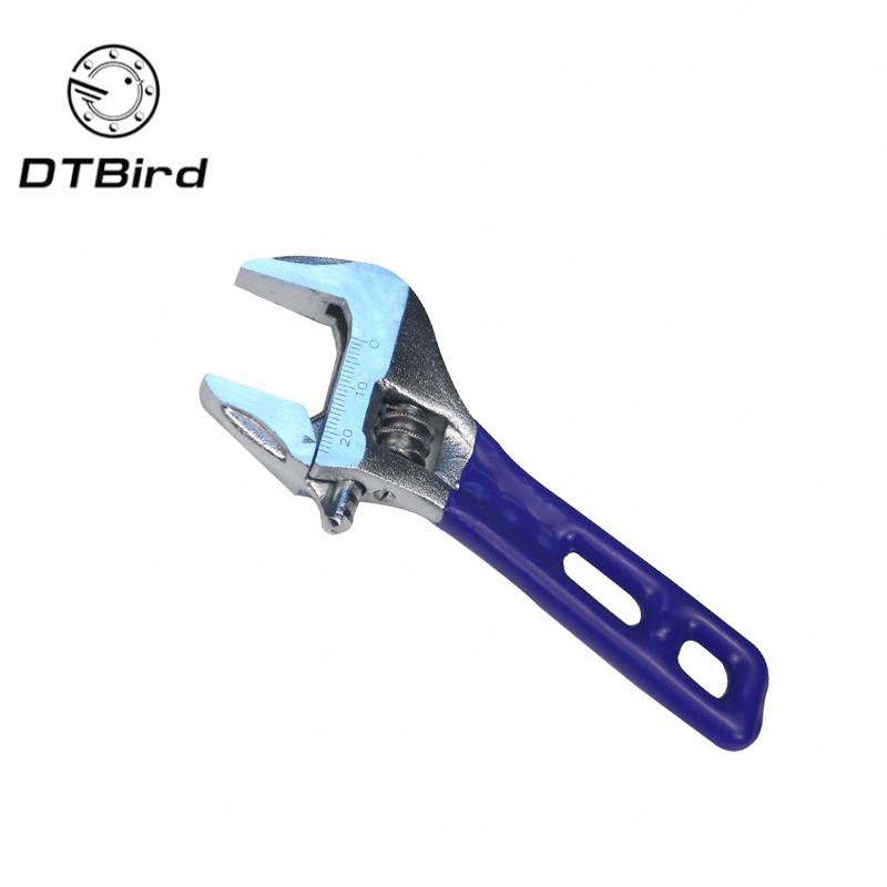 Adjustable Wrench Stainless Steel Universal Spanner Mini Nut Key Hand Tools Maximum 24mm Diameter Multi-Function Bathroom Wrench