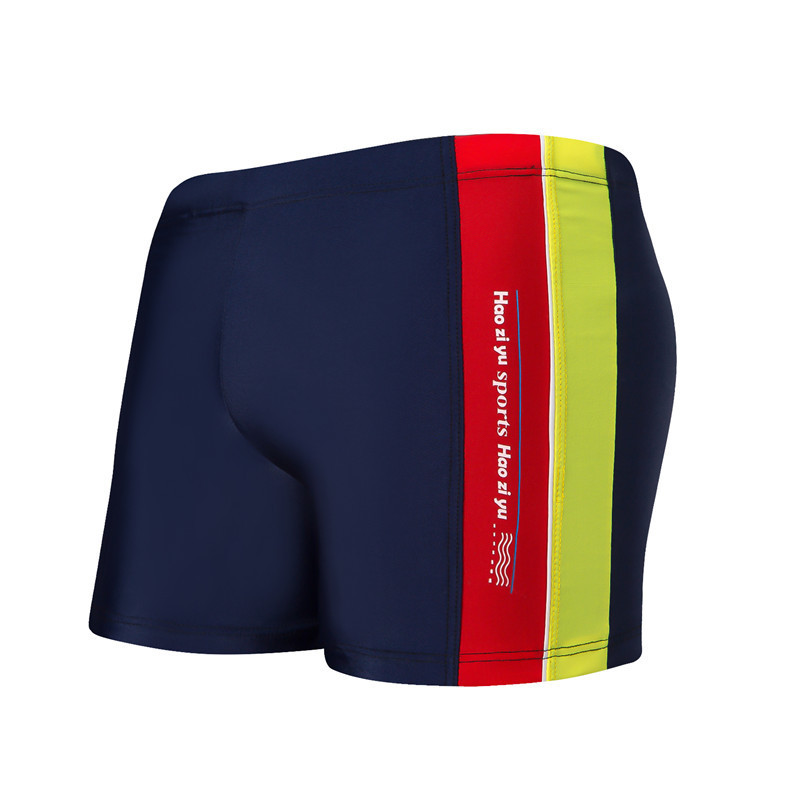 Mixed Colors Korean-style BOY'S Beach Swimming Shorts Comfortable Breathable Boxer Children Swimming Trunks Big Boy Quick-Dry Sh