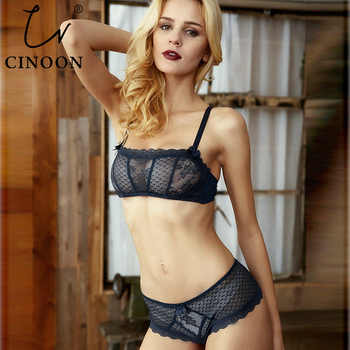 CINOON Hot Sale Lace Underwear Women Sexy Ultra-thin Transparent Bra set Tube Top Comfortable Underwire Push Up Lingerie - DISCOUNT ITEM  30% OFF All Category