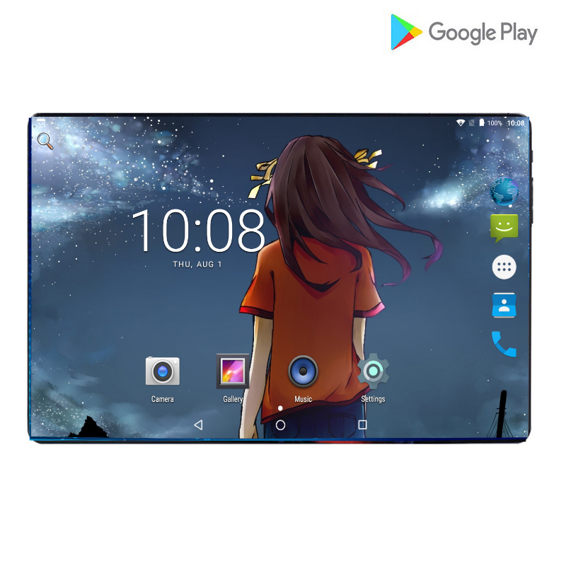 2020 Newest 10 Inch 4G LTE Phone Call Tablet Pc Android 9.0 Octa Core 6GB+128GB Memory Dual SIM Card 10.1 WiFi Tablets 10.1