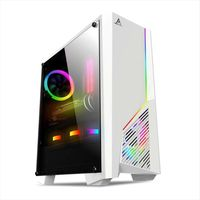 RGB Lighting Streaming Video Water Cooled Game under zhi dianyuansu Source Chassis Desktop Computer Side through Two Piece Back