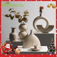 New Nordic Simple Creative Ceramic Flower Arrangement Vase Art Dried Flower Flower Green Plant Potted Gardening Home Decoration