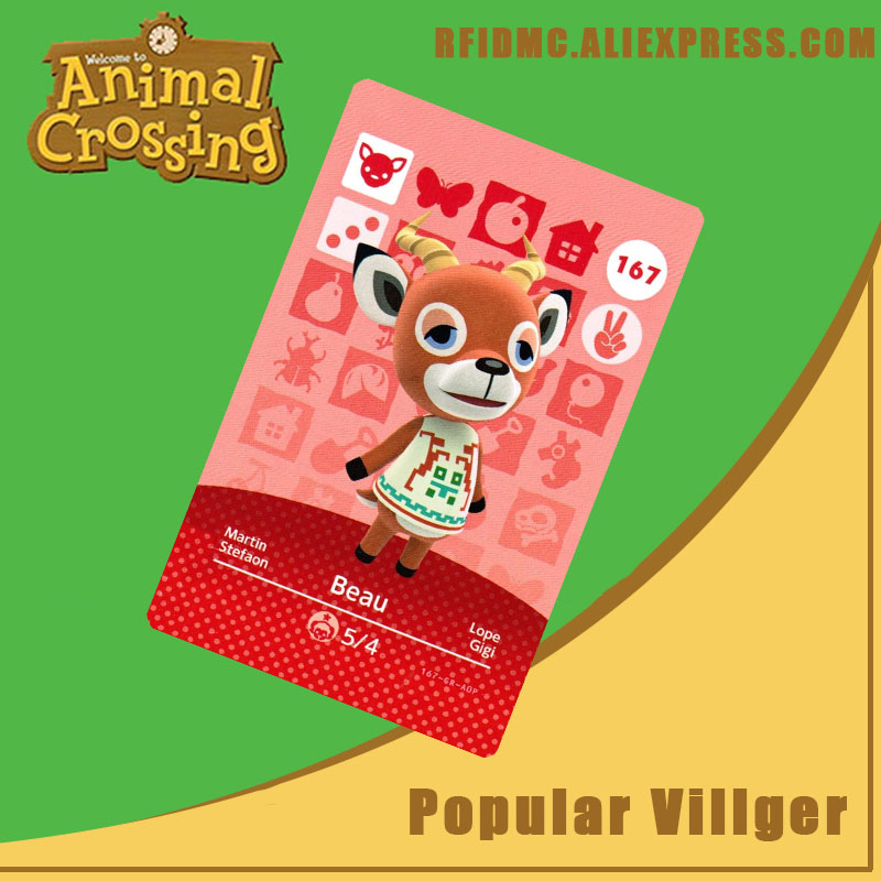 167 Beau Animal Crossing Card Amiibo For New Horizons
