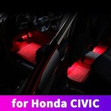 LED interior atmosphere lamp foot lamp decoration lamp atmosphere lamp modification For Honda Civic 10th 2016 2017 2018 2019 20