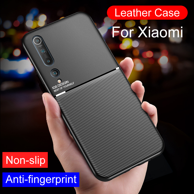 Luxury Matte Case For <font><b>Xiaomi</b></font> <font><b>Mi</b></font> A1 A2 A3 10 <font><b>9</b></font> 8 Pro <font><b>Se</b></font> Full Cover Leather Protective Case For <font><b>Mi</b></font> 8 Lite Shockproof Business <font><b>Capa</b></font> image