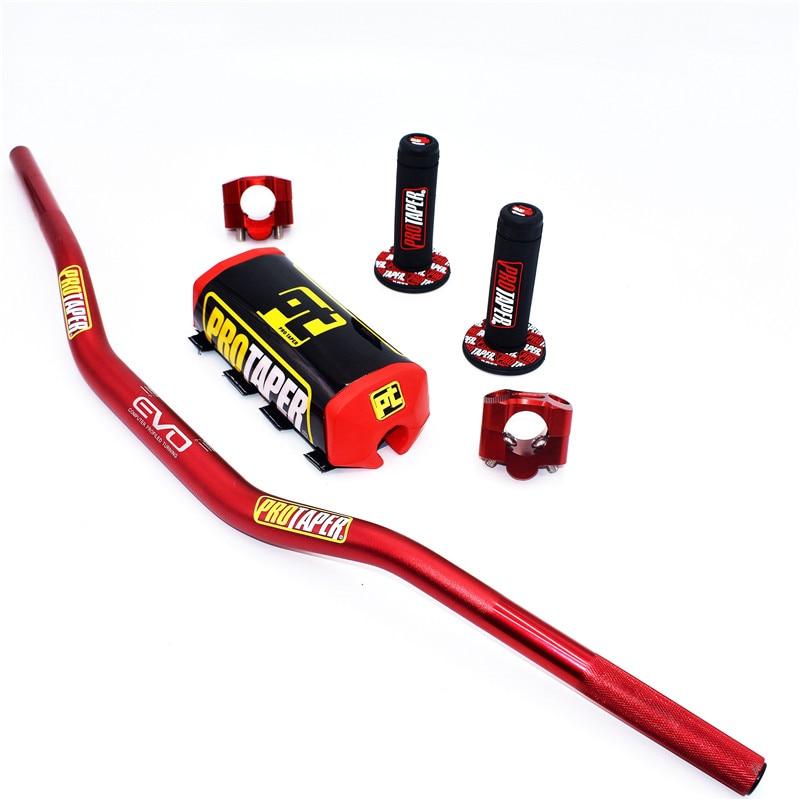 Image 2 - Handlebar For PRO Taper Pack Bar 1 1/8 Handle bar Pads Grips Pit  Pro Racing Dirt Pit Bike Motorcycle CNC 28.5mm AdapterHandlebar   -