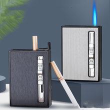 10 шт чехол для сигарет автоматическая газовая зажигалка турбо