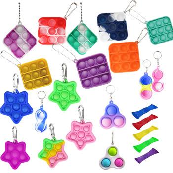 Pop Fidget Reliever stres zabawki Mini Pop to dla dzieci dzieci dorosłych silikonowe zabawki antystresowe wycisnąć zabawki Pop It zabawka spinner tanie i dobre opinie CN (pochodzenie) 13-24m 25-36m 4-6y 7-12y 12 + y Squeeze Toys Zwierzęta i Natura Do jazdy Fantasy i sci-fi Zawody Sport