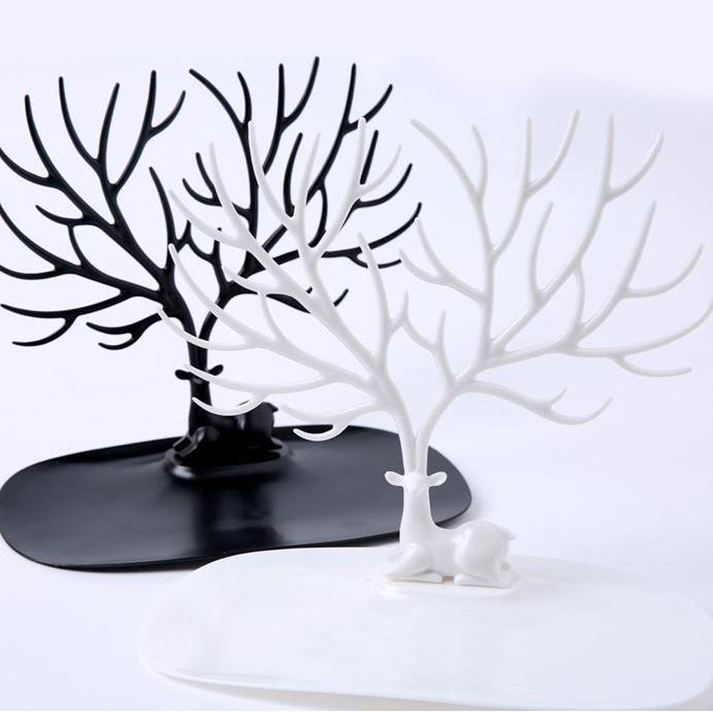 Deer Tree Jewelry Rack Display Stand Earrings Necklace Bracelet Ring Organizer Fairly Sturdy Design Always Jewelry Organized