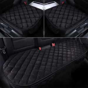 Breathable Car Seat Cover Winter Car Front & Rear Seat Cushion Non-slip Short Fluffy Chair Auto Seat Cushion Protective Mat Pad