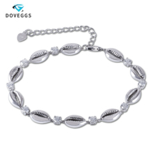DovEggs Sterling solid 925 sliver FG Color Moissanite 1.8 CTW 3.5mm Bracelet for Women 18+5CM Chain Length Birthday Gifts