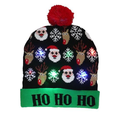 Г., 43 дизайна, светодиодный Рождественский головной убор, Шапка-бини, Рождественский Санта-светильник, вязаная шапка для детей и взрослых, для рождественской вечеринки - Цвет: 34