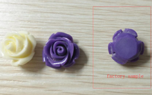 5000pc  Flat Bottom No Hole 15mm Black Color Resin Plastic Flower Loose Beads