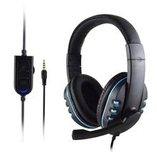 Gaming Headset Stereo Surround Headphone 3.5mm Wired Mic For PS4 Laptop For Xbox one Gamer Headphone(China)