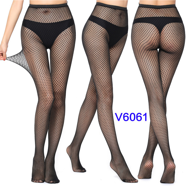 Sexy Fashion Ultrathin Women Pantyhose Hollow Solid Fishnet Tights Clothes For Women Black Tights Lace Sexy Lingerie 5