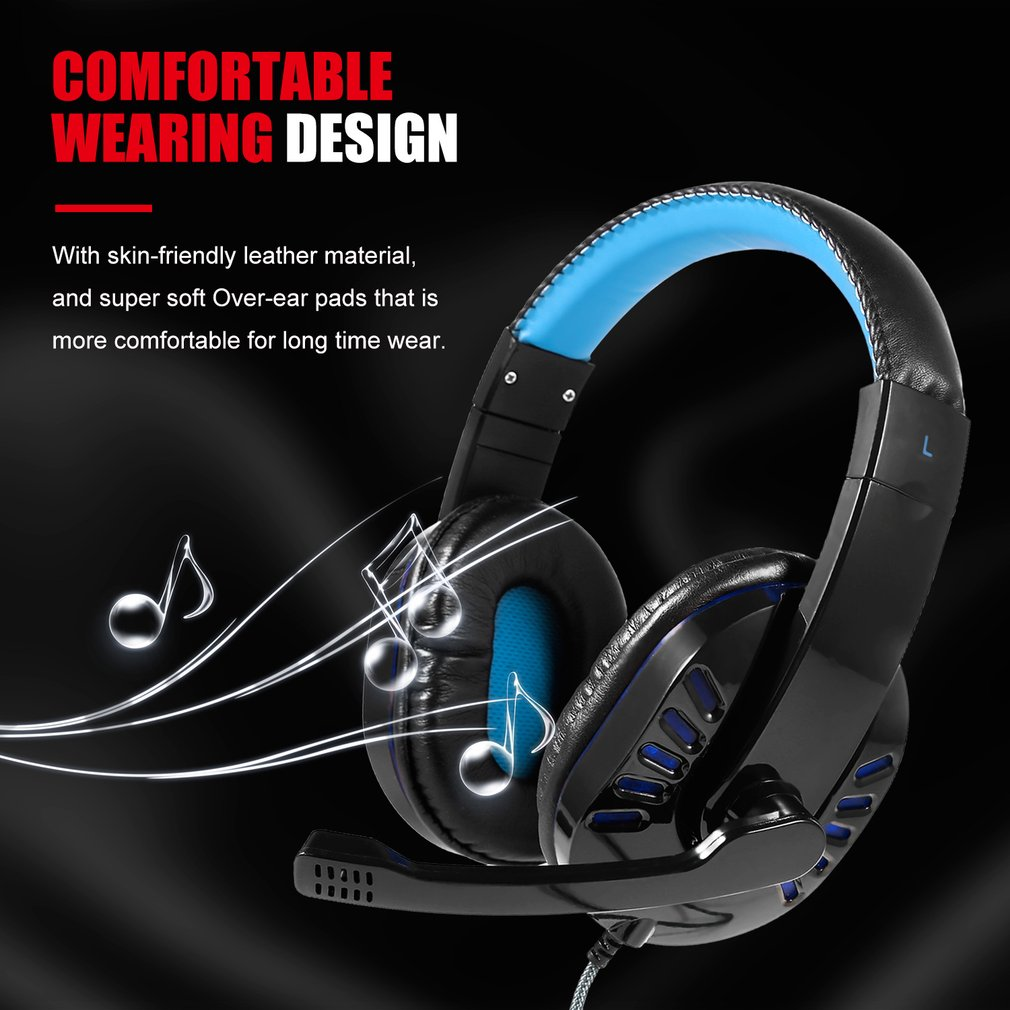 Gaming Headset Best casque 7.1 Surround Sound USB Wired Headphones with Microphone Volume Control  for PS4/XBOX-ONE SY755MV