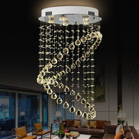 Modern Luxury Crystal Chandelier Double Annular Lamp Creative Design Indoor Hanging Light for livingroom diningroom staircase