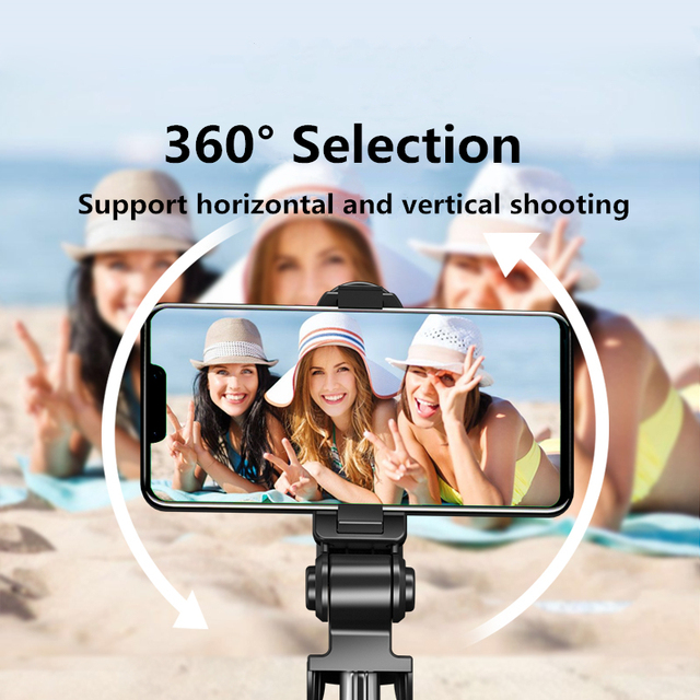 2021 NEW Bluetooth Wireless Selfie Stick Mini Tripod Extendable Monopod with fill light Remote shutter For IOS Android phone 4