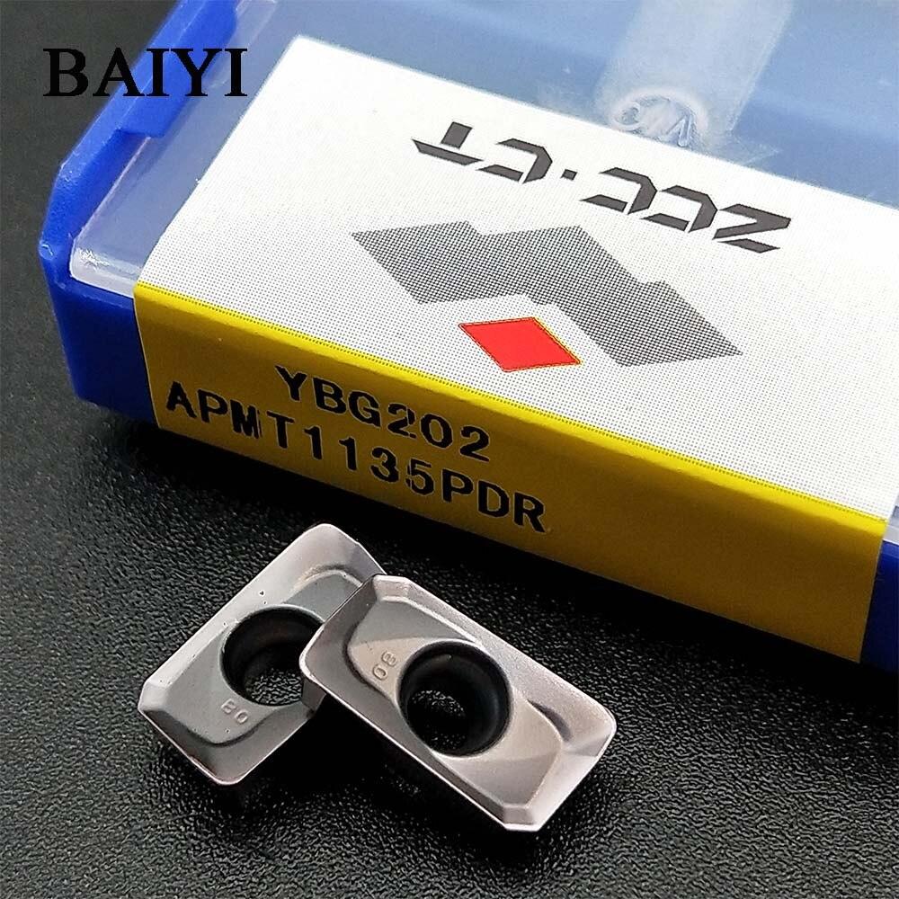 10pcs ZCC.CT APMT1135PDR YBG202 Apmt1135 Tungsten Carbide Cutting Tools Milling Insert Apmt 1135 Pdr
