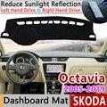 Für Skoda Octavia 2 3 A5 A7 MK2 MK3 1Z 5E Anti-Slip Matte Dashboard Abdeckung Pad Sonnenschirm Dashmat dash Schützen Teppich Zubehör Teppich