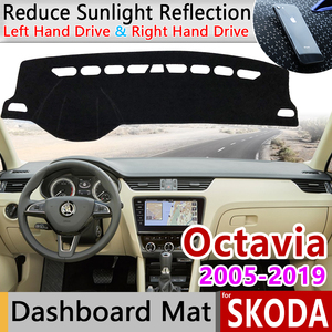 for Skoda Octavia 2 3 A5 A7 MK2 MK3 1Z 5E Anti-Slip Mat Dashboard Cover Pad Sunshade Dashmat Dash Protect Carpet Accessories Rug(China)