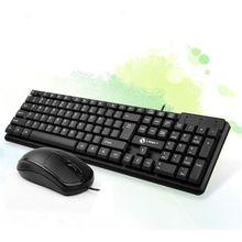 Универсальный черный бесшумный проводной 104 клавиши клавиатура и мышь комбо набор для ноутбука ПК