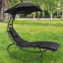 Outdoor Camping Rest Recliner 150KG Oversized Load-bearing Rest Chair With Parasol With Back Cushion HWC