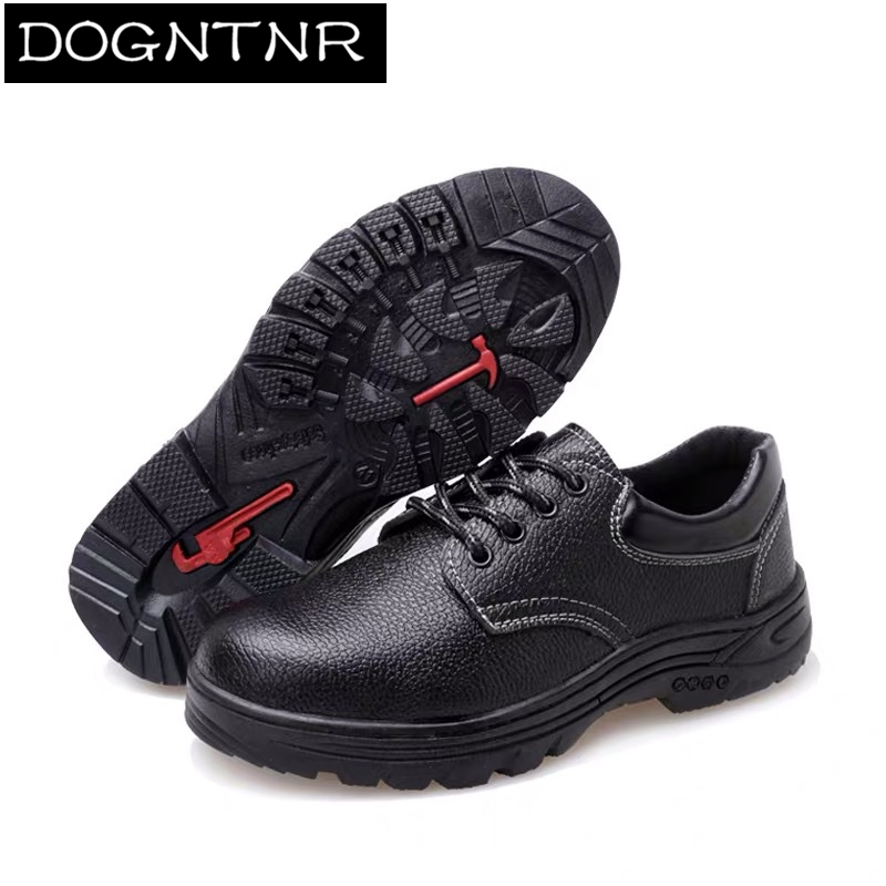 Men's Work Safety Shoes Steel Head Microfiber Leather Work Safety Boots Large 34-47 Men And Women Anti-puncture Work Shoes