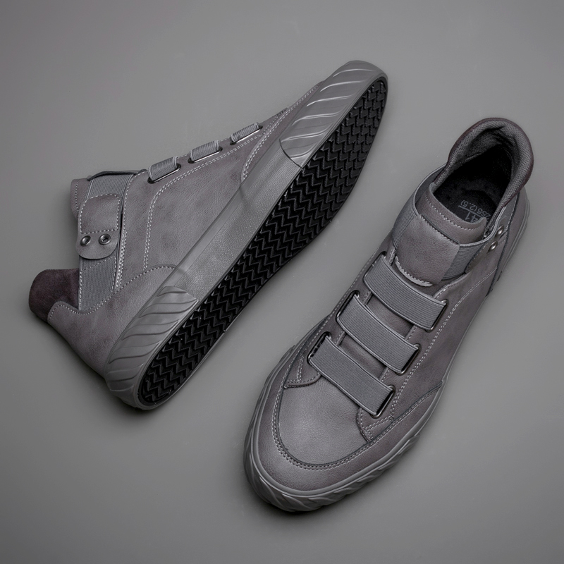 Brand New Men s Leather Shoes Korean Trend Comfortable Loafer Men Shoes British Fashion Men High