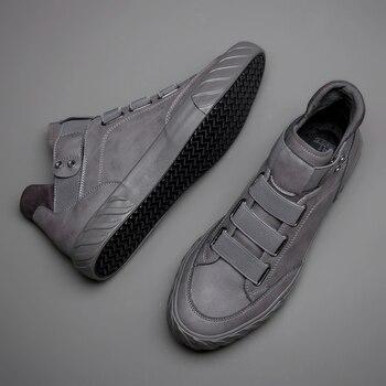 Brand New Men s Leather Shoes Korean Trend Comfortable Loafer Men Shoes British Fashion Men