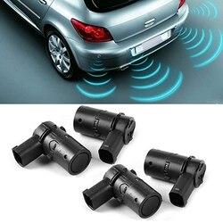 4 sztuk czarny czujnik parkowania PDC nadające się do Volvo S80 S60 V70 XC70 C70 V50 S40 XC90 30765108 30668100