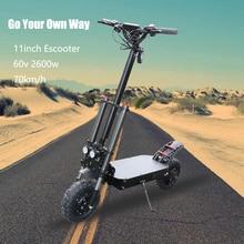 11 дюймов внедорожный электрический скутер 105 км samsung Аккумулятор 60v2600w складной Escooter Ховерборд Patinete Electrico adulto E скутер