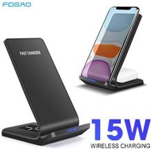 FDGAO 15W 2 Trong 1 Sạc Không Dây Qi Sạc Nhanh Cho Samsung S10 S20 Đế Sạc Cho iPhone 12 11 XS XR X 8 Airpods Pro