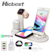 3 in 1 Wireless Charging Induction Charger Stand for iPhone X XS Max XR 8 Airpods Apple Watch 2 in 1 Docking Dock Station 3in1
