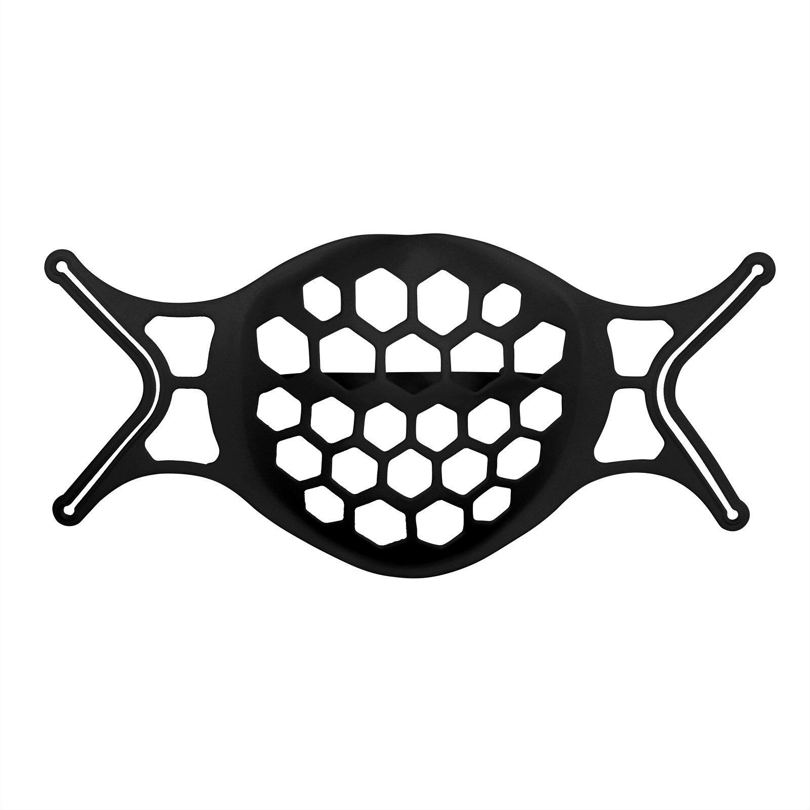 Noir 3D bouche masque Support Silicone masques de visage supports masque Support intérieur cadre anti-poussière housse de protection Support