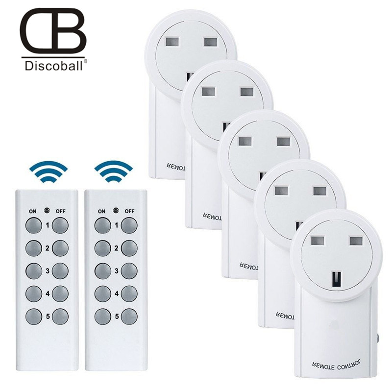 UK Wireless Outlet Remote Control Socket Light Switches House Power Outlet Light Switch Socket +Remote UK Connector Plug DC 12V