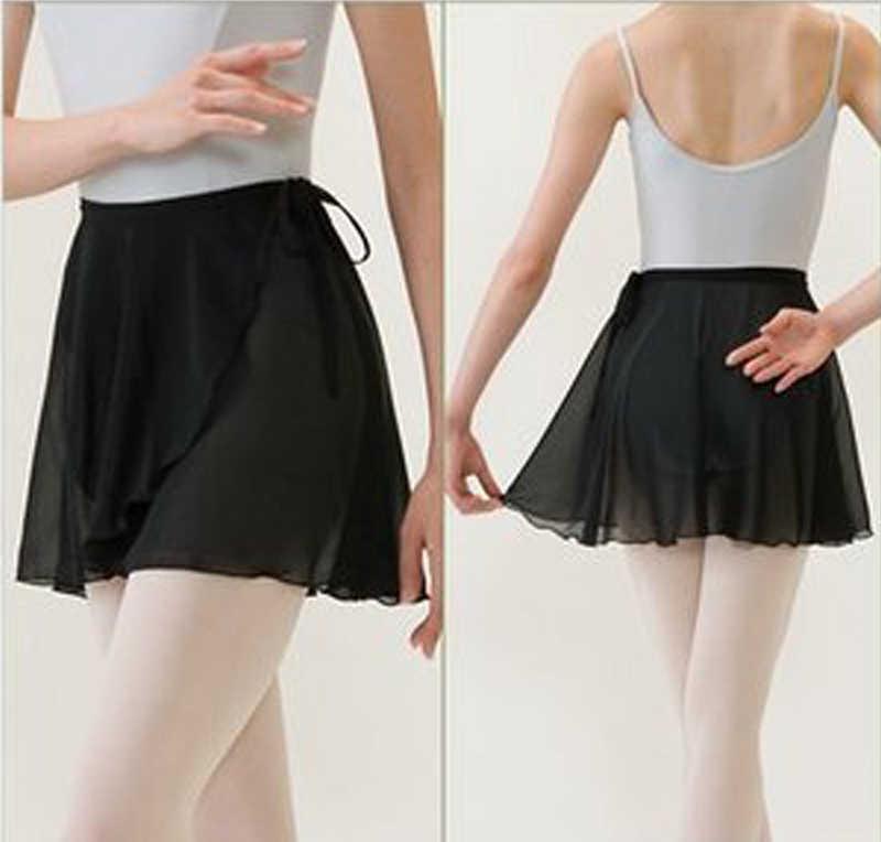 בלט ריקוד חצאית למבוגרים ילדי שיפון טהור צבע פרחוני הדפסת בפועל בגד גוף ריקוד שמלת נשים בלט ריקוד שמלה