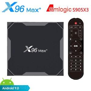 Image 1 - X96 MAX artı TV kutusu Android 9.0 Amlogic S905X3 4GB RAM 32GB 64GB ROM wifi Bluetooth 4K HD akıllı Set Top Box 2GB 16GB vs A95X F3