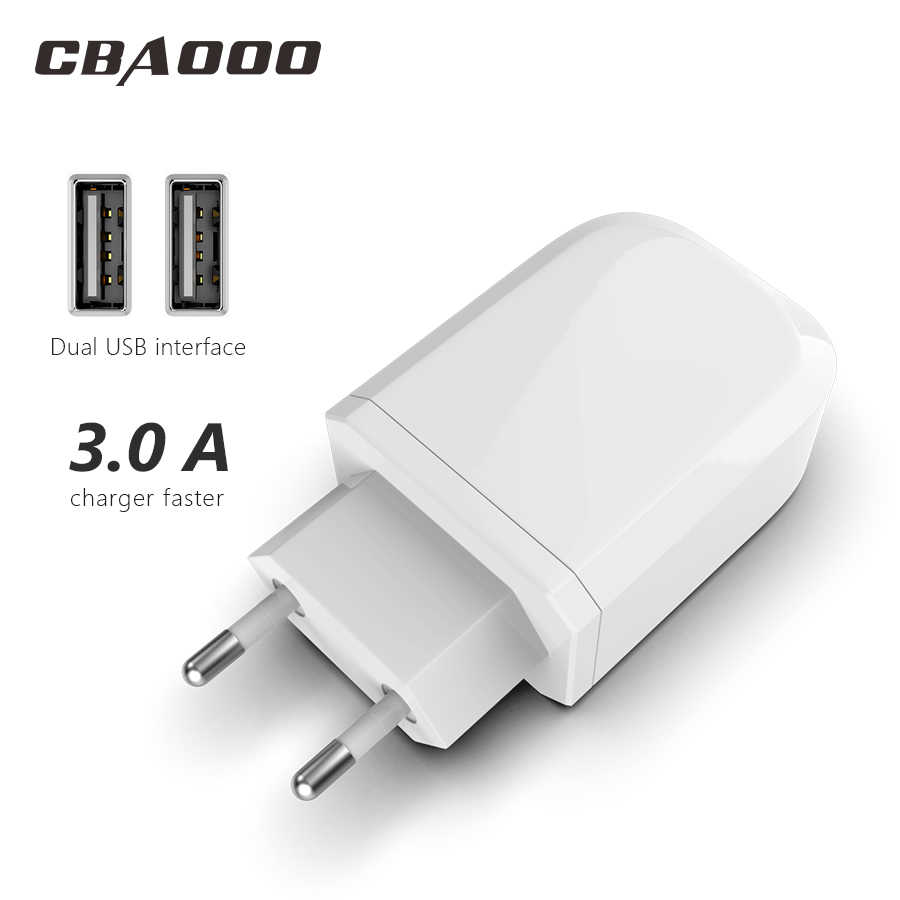 Usb Travel EU Plug 2.1a Fast Charging Adapter แบบพกพา Dual Wall charger โทรศัพท์มือถือสำหรับ iphone Samsung xiaomi