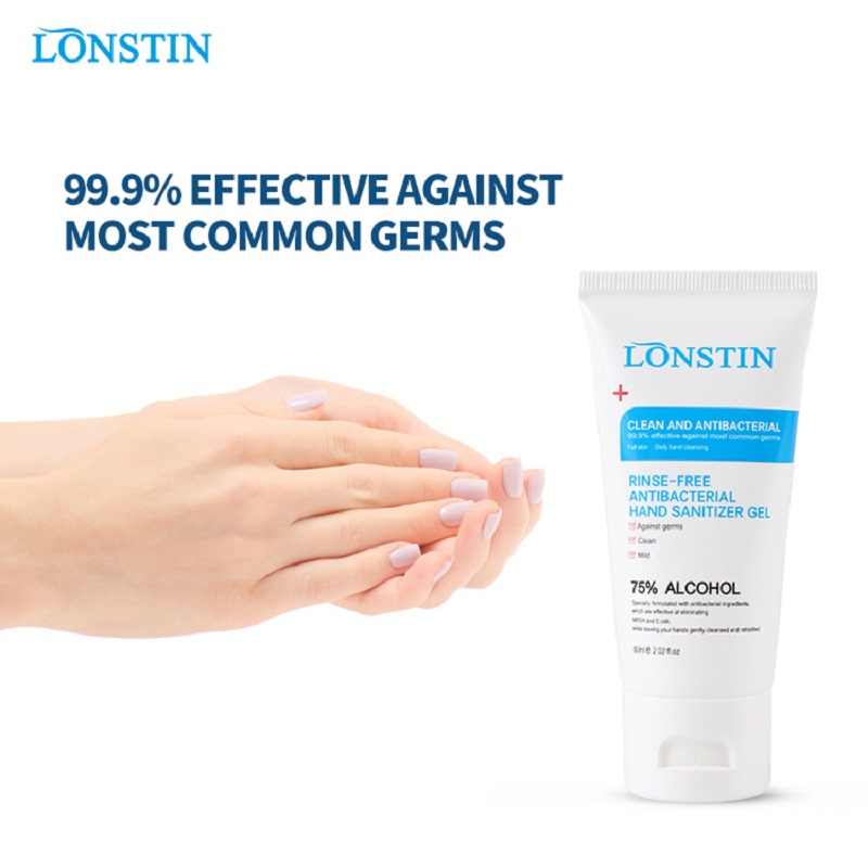 Mini Hand Sanitizer Anti-Bacteria Moisturizing Fruit-Scented Disposable No Clean Waterless Clear  Fluid 60ml Lonstin