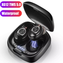 XG12 TWS Stereo Wireless Earphone Bluetooth 5.0 Headphone HIFI Sound Sport Earbuds Handsfree Gaming Headsets with Mic for Phone