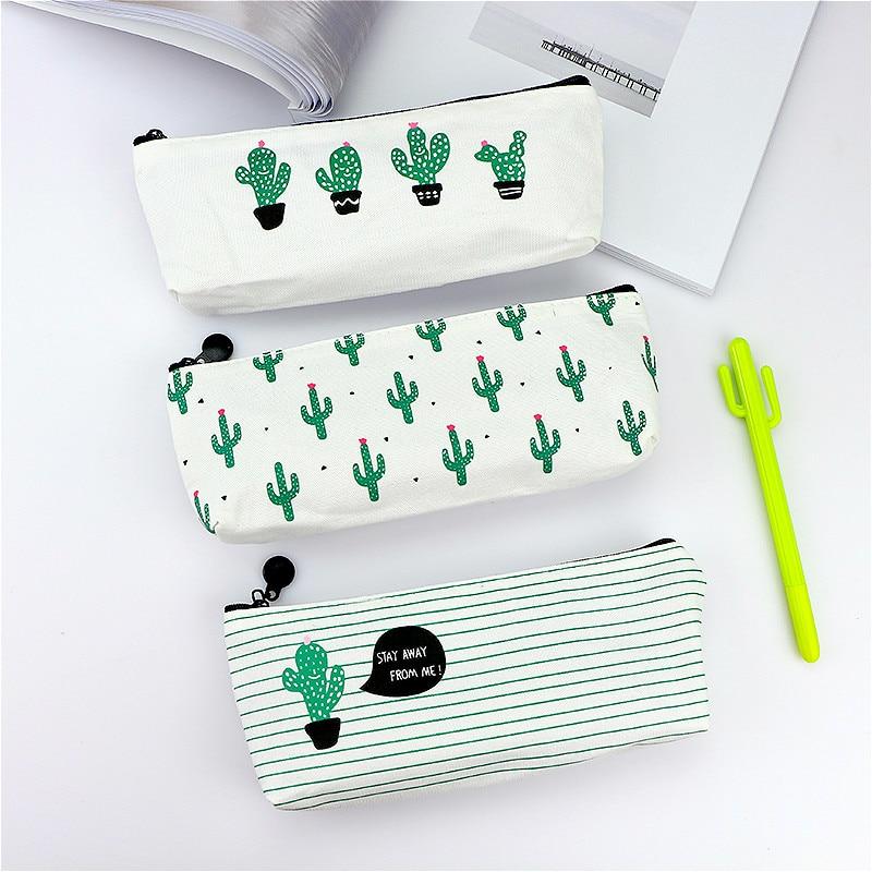 Hot Sale 1pcs Succulents Pencil Case Quality School Supplies Stationery Gift Pencilcase School Cute Pencil Box School Tools