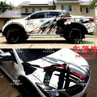 FOR Ford Raptor F150 pull flower body modification full car stickers Raptor racing modified stickers