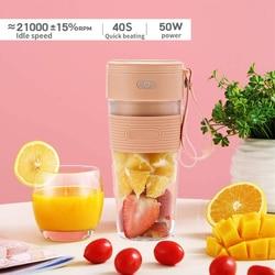Mini przenośne elektryczne sokowirówka urządzenie do Smoothie Blender maszyna sport USB akumulator wyciskarka do owoców przenośna sokowirówka Blender