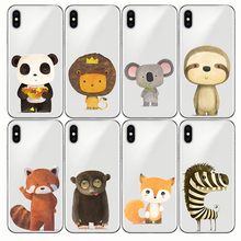 animal Phone Case cute zebra penguin Bear fox Koalas lion panda tiger rabbit for IPhone 5 5S SE X XS MAX XR 6 6S 7 8 Plus