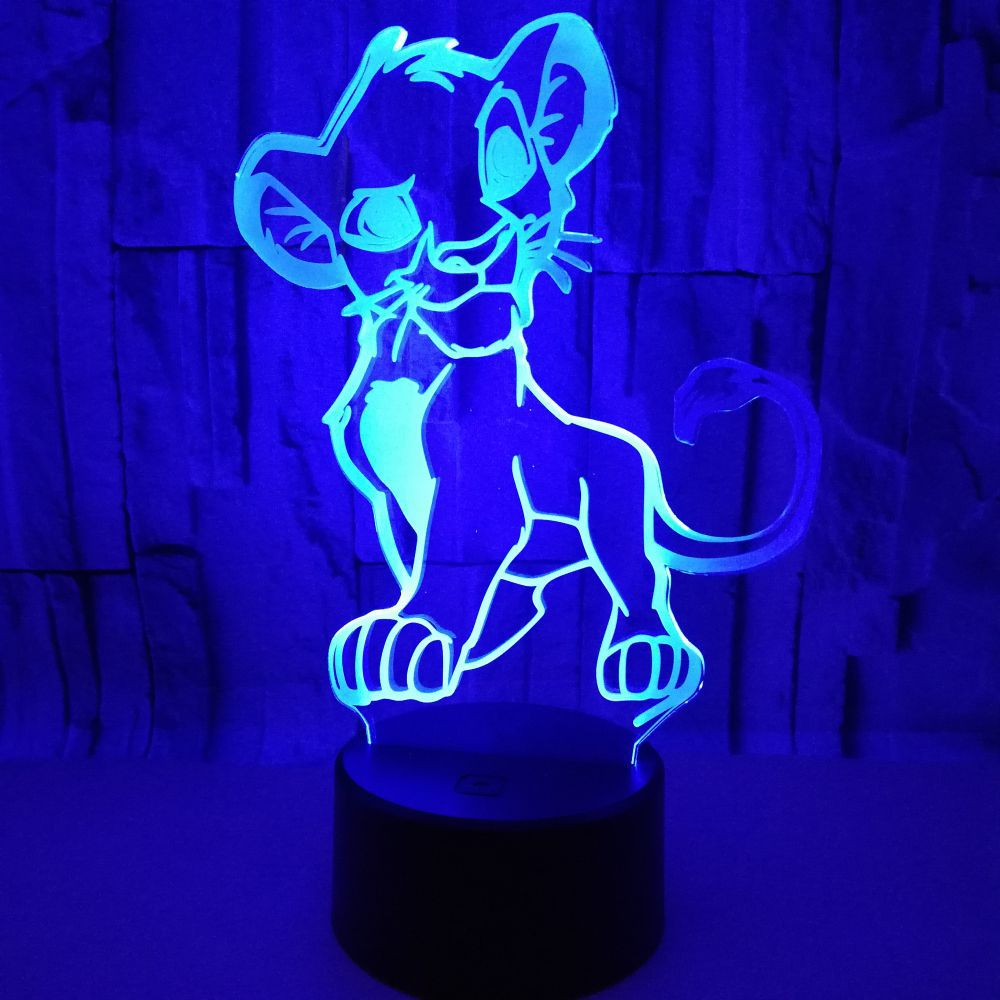 Lampe 3d Roi Lion Simba Dessin Animé 7 Couleurs Changeantes Design Tactile Luminaire D Intérieur Luminaire D Intérieur Luminaire D Intérieur Luminaire D Intérieur Idéal Pour Une Chambre D Enfant Cadeau D Enfant Nouveauté à Led Couleurs