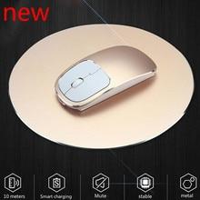 цена на 1600 DPI USB Optical Wireless Computer Mouse 2.4G Receiver Super Slim Mouse For PC Laptop Stylish aluminum alloy lasting life