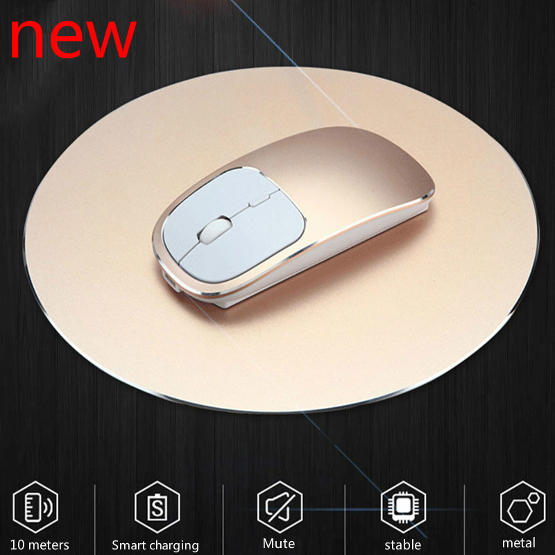 1600 DPI USB Optical Wireless Computer Mouse 2.4G Receiver Super Slim Mouse For PC Laptop Stylish aluminum alloy lasting life image