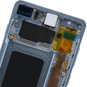 Image 3 - 3040x1440 Original AMOLED 6,4 S10 PLUS LCD Für SAMSUNG Galaxy S10 + SM G9750 G975F Display Touchscreen digitizer Ersatz