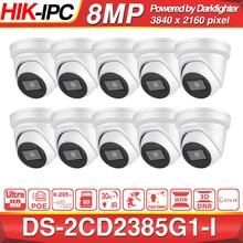 Pré venda hikvision câmera ip original DS 2CD2385G1 I 8mp rede cctv câmera h.265 cctv segurança poe wdr sd slot para cartão 10 pçs/lote